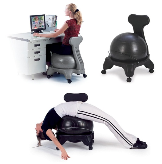 Health and Fitness Balance Fit Chair with ball and pump