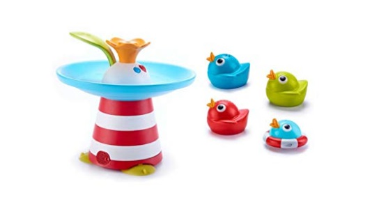 Yookidoo-Musical-Duck-Race-Baby-Bath-Toy-with-Waterfall-Auto-Fountain-Water-Pump-and-4-Racing-Ducks